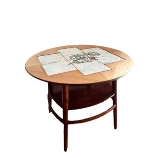 Scandinavian Modern Round Accent Table by Jason Furniture For Sale