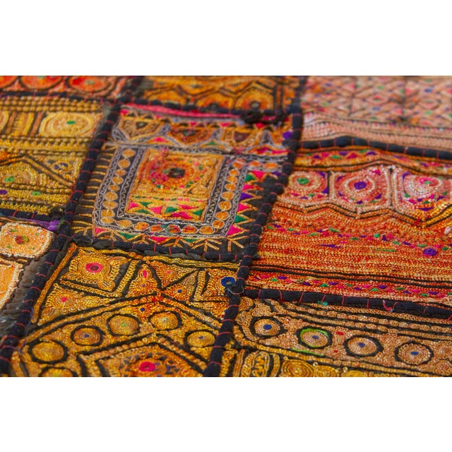 Indian Metallic Tapestry For Sale In Los Angeles - Image 6 of 9