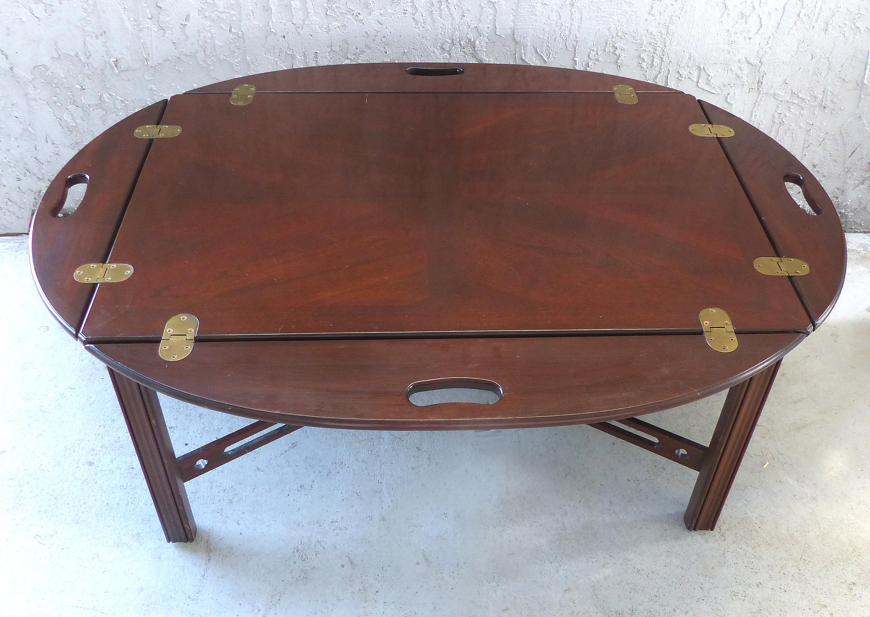 Delicieux Ethan Allen Butler Tray Coffee Table   Image 3 Of 11