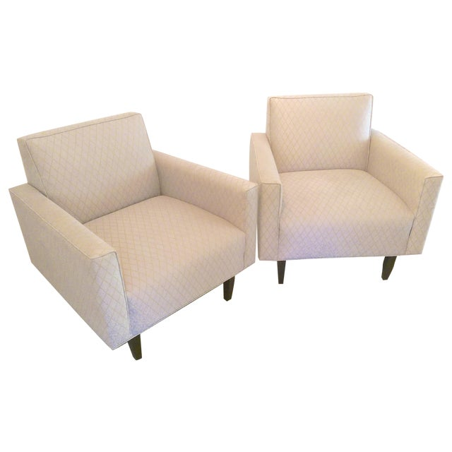 Room and Board Mid-Century Modern Chairs - a Pair - Image 1 of 11