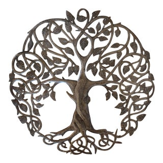 Steel Tree Statue Wall Hanging