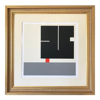 Vintage Geometric Abstract Op Art Serigraph by Anton Stankowski C. 1970s For Sale