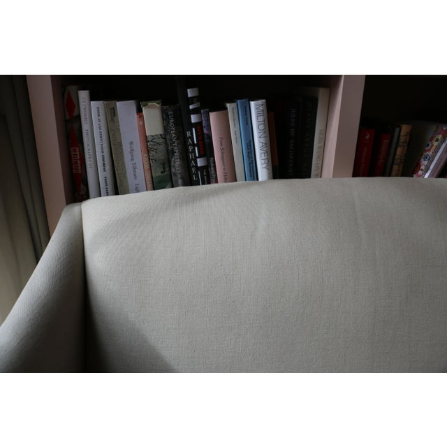 Lee Industries Lee Industries Taupe Linen Sofa For Sale - Image 4 of 8