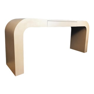 Vintage 80s Modern Waterfall Console Table For Sale