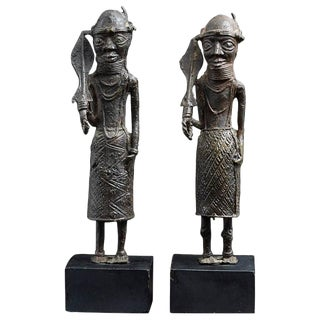 Benin Iron Warrior Statues For Sale