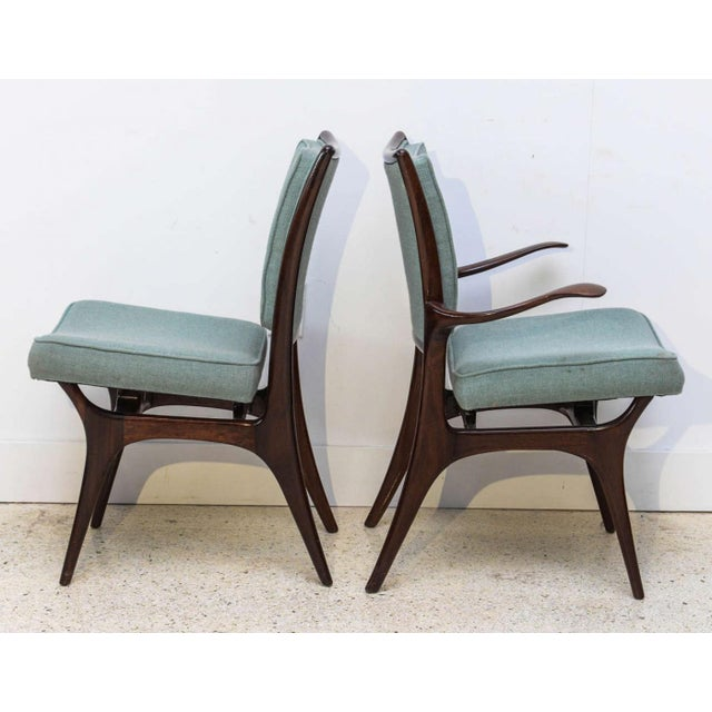 Mid-Century Modern Set of Four American Modern Dark Walnut Dining Chairs, Vladimir Kagan For Sale - Image 3 of 8