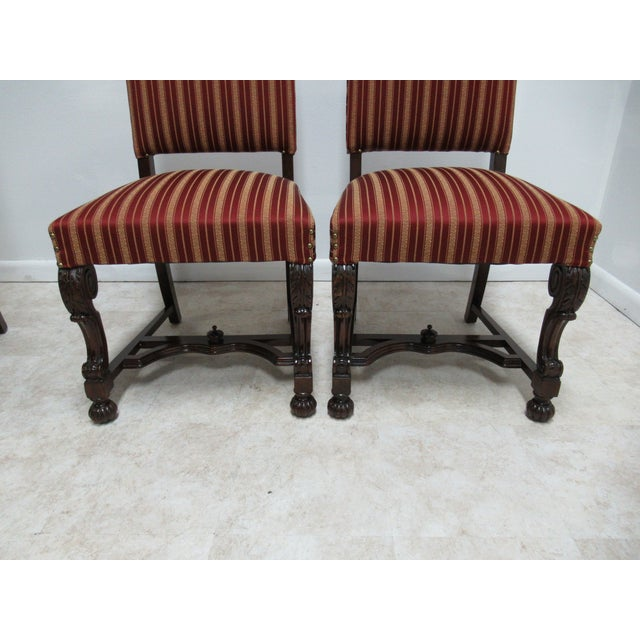Antique Berkey Gay French Empire Walnut Dining Room Arm Chairs - Set of 6 For Sale - Image 11 of 12