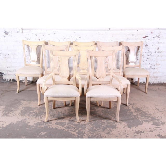 Bernhardt Mediterranean Style Carved Maple Dining Set With Ten Chairs For Sale - Image 10 of 13