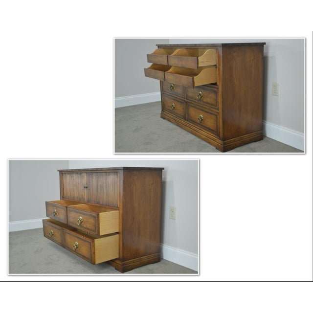 Hollywood Regency Regency Style Custom Quality Tambour Door Chest For Sale - Image 3 of 13