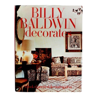 "1972 ""Billy Baldwin Decorates"" Coffee Table Book For Sale"