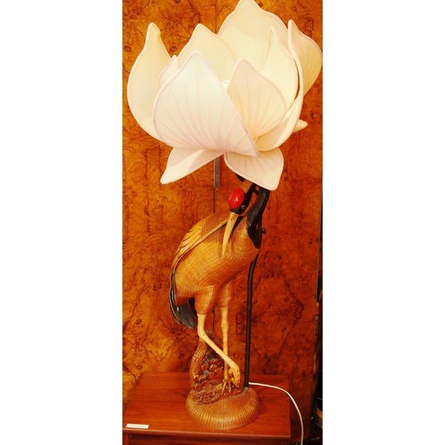 Unique and rare, handcrafted beautiful lamp with a hidden compartment under the wing.