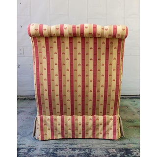 Large French 19th Century Napoleon III Chaise Longue in Striped Patterned Fabric Preview