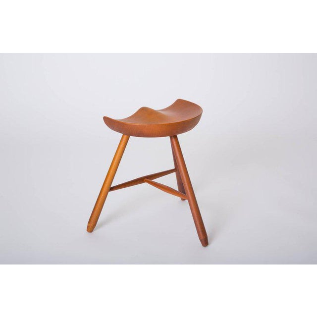 1950s Danish Modern Milking Stool For Sale - Image 5 of 10