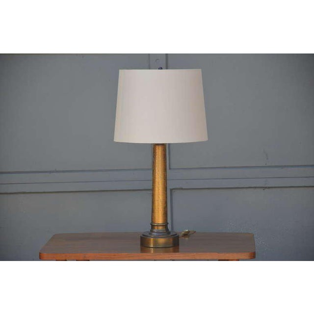 Pair of Chic Crackled Glass Column Lamps by Paul Hanson For Sale In Los Angeles - Image 6 of 10