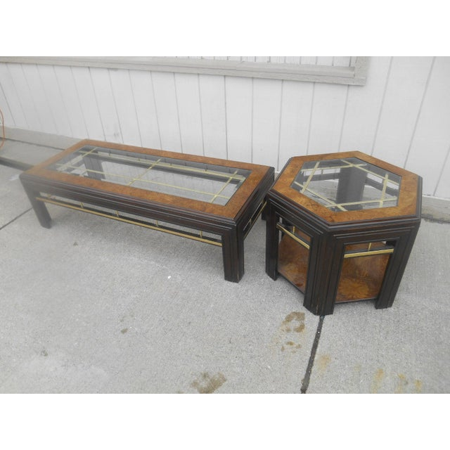 Danish Modern Mid-Century Modern Milo Baughman Style Coffee/ End Table Set - 2 Pc. For Sale - Image 3 of 11