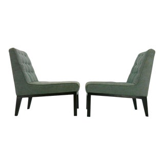 Pair of Edward Wormley for Dunbar Slipper Chairs For Sale