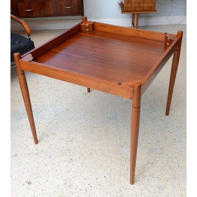 Italian Modern Walnut Game Table by Gio Ponti for Singer & Sons For Sale - Image 10 of 11
