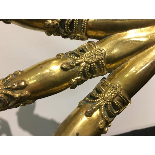 Tibetan Gilt Bronze Arms of a Bodhisattva For Sale In Austin - Image 6 of 8