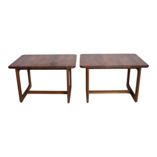 Mid-Century Danish Modern Solid Teak Side Tables Finn Juhl Attr - a Pair For Sale