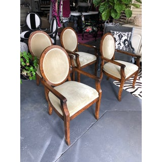 1990s Vintage William Switzer Joseph Hoffman Arm Chairs- Set of 4 Preview