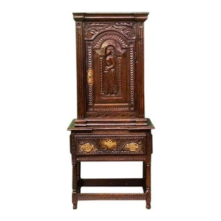 Early 18th Century Carved Court Cabinet For Sale