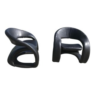 1990s Vintage Sculptural Sinuous Cantilever Chairs - A Pair For Sale