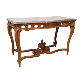 Marble top console For Sale