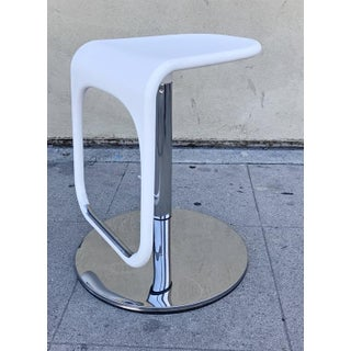 White & Chrome Adjustable Counter Stools - Set of 2 Preview