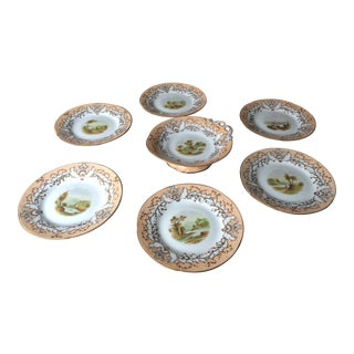 Scenic Landscape Plates - Set of 7 For Sale
