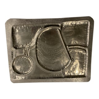1980s Pewter Tray For Sale