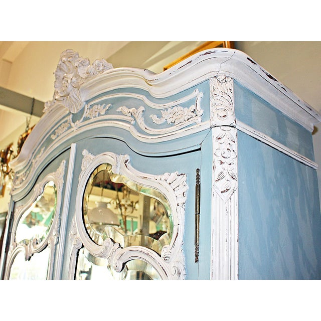 19th Century French Country Painted Armoire For Sale - Image 10 of 13