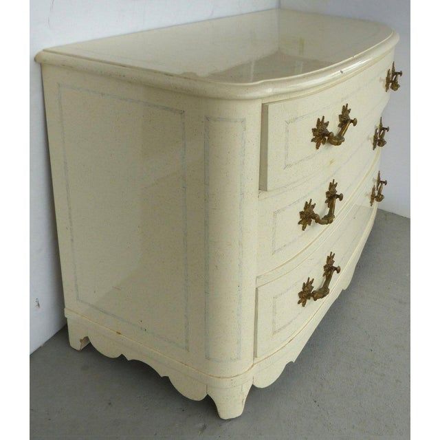 Lacquered Mid-Century Dresser with Ornate Hardware - Image 3 of 7