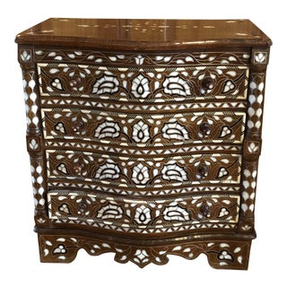 20th Century Moorish Syrian Inlaid Mother of Pearl Dresser For Sale