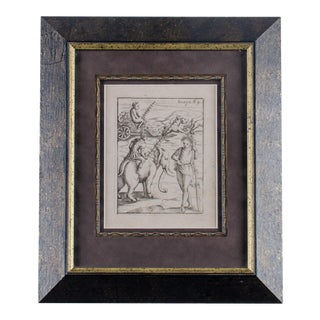 1556 Vincenzo Cartari Triumphal Bacchus Engraving Print For Sale