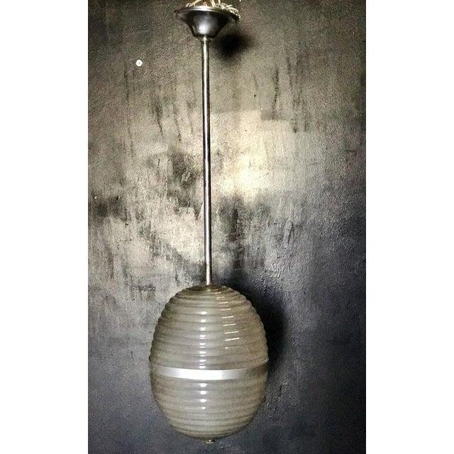 Murano Milk Glass Egg Pendant Light 1960/70 For Sale In Los Angeles - Image 6 of 6