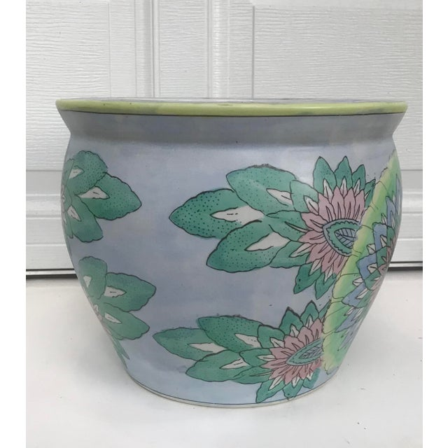 Large Oriental Asian Chinese Planter Jardiniere For Sale - Image 4 of 8