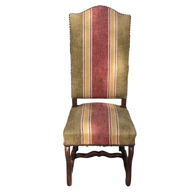 Oak Framed Oz de Mouton Upholstered Side Chair - Image 1 of 6