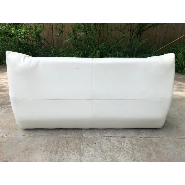 Michael Ducaroy Togo Style White Vinyl Sectional - Set of 4 For Sale - Image 11 of 13
