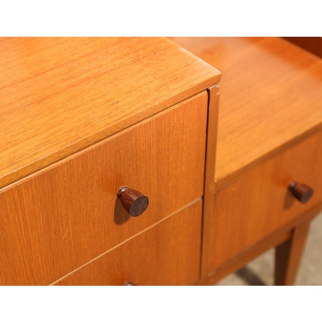 Glass Small Mid Century Mirrored Dresser For Sale - Image 7 of 10