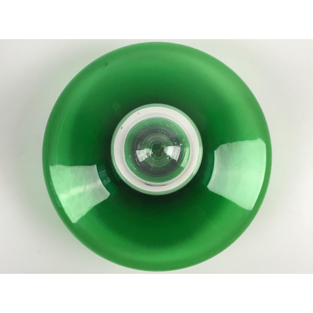 Mid-Century Modern Blenko Green Glass Decanter - Image 5 of 7