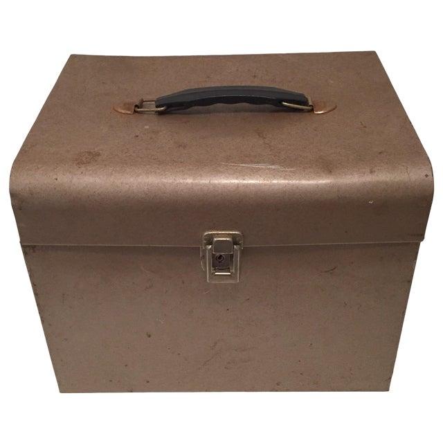 Retro Rustic Industrial Grey Metal Box - Image 1 of 10