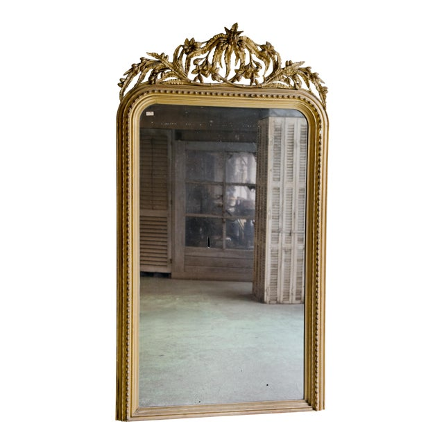 Elaborate Decorated 19th Century Mirror For Sale