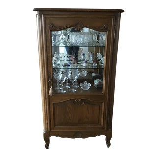 Antique French Wood Display Cabinet