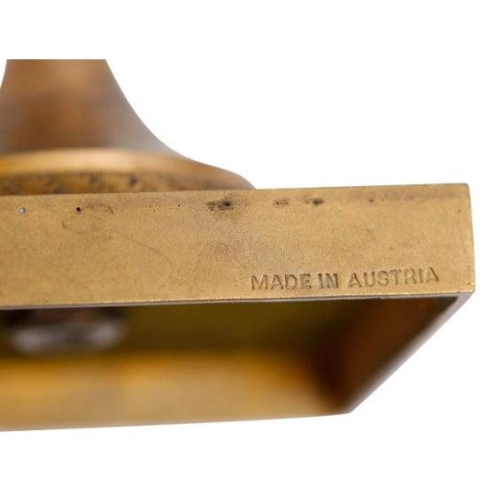 Austrian Gilt Bronze & Glass Candelabrum - A Pair - Image 4 of 4