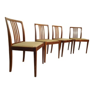 Rich Rosewood Dining Chairs - Set of 4