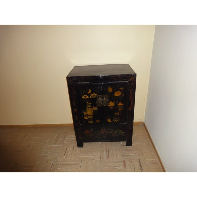 Asian Black Laquer Chest - Image 2 of 5