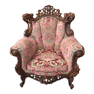 Baroque Rococo Carved Chair For Sale