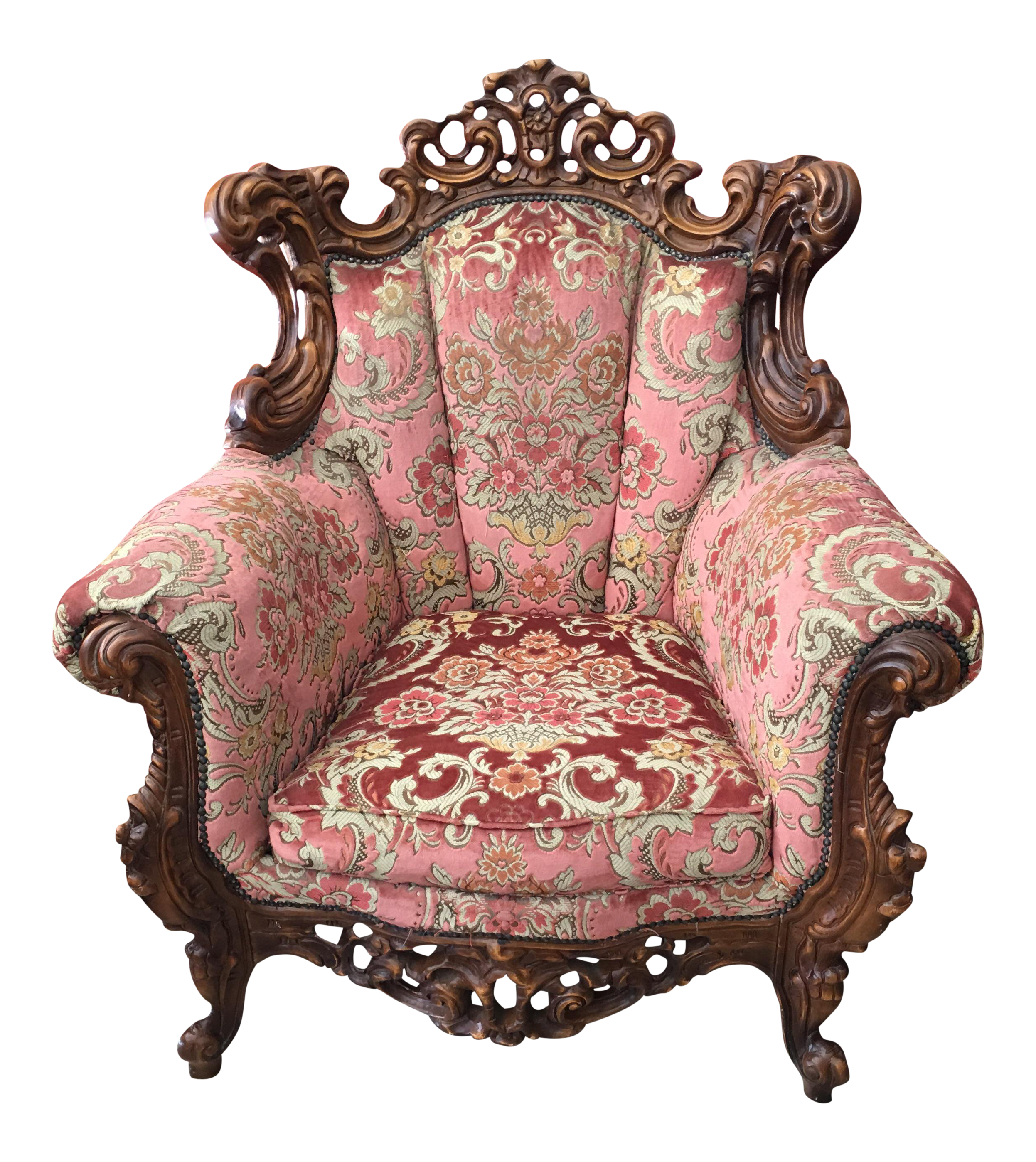 Merveilleux Baroque Rococo Carved Chair