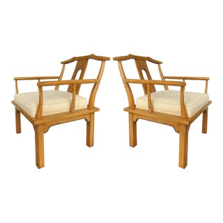 Midcentury Asian Modern Armchairs by the Century Furniture Company