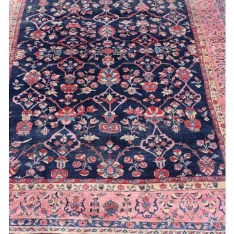 Beautiful rug that will fit in any part of your house. Multicolor Hand-knotted Antique Wool This rug has been repaired.